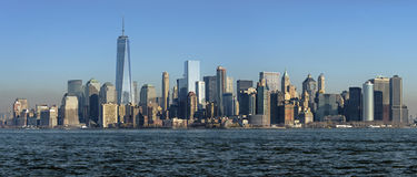 Panoramic view of Manhattan, New York Royalty Free Stock Image