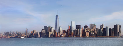 Panoramic view of Manhattan. New York, USA Stock Photos