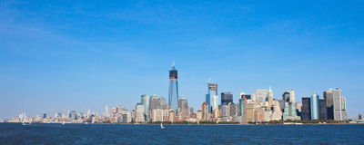 Panoramic view of Manhattan, NY Royalty Free Stock Images