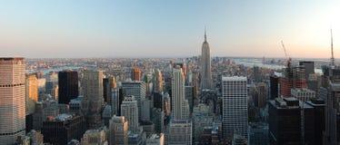 Panoramic view of Manhattan NY Stock Photos