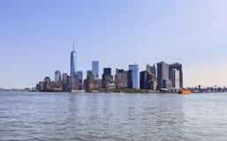 Panoramic view of Manhattan, NYC, NY, USA stock image
