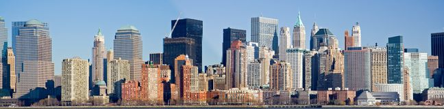 Panoramic View of Manhattan skyline Stock Photo