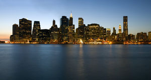 Panoramic view of Manhattan skyline Royalty Free Stock Photography
