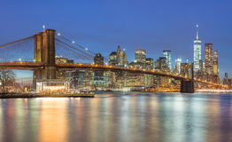 Panoramic view of  Manhattan skyline in New York City Royalty Free Stock Image