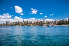 View on Manly Beach Ferry Station in Sydney, Australia. royalty free stock image