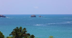 Panoramic view of Manuel Antonio national park beach in Costa Rica, most beautiful beaches in the world. Central America pacific ocean stock image