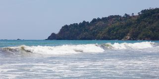 Panoramic view of Manuel Antonio national park beach in Costa Rica, most beautiful beaches in the world, surfer beaches in America Royalty Free Stock Photography