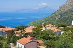Panoramic view of Maratea. Basilicata. Italy. Stock Photos