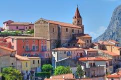 Panoramic view of Maratea. Basilicata. Italy. Stock Images