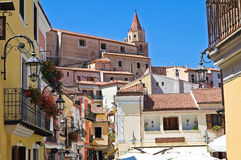 Panoramic view of Maratea. Basilicata. Italy. Royalty Free Stock Photo