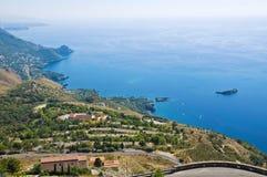 Panoramic view of Maratea. Basilicata. Italy. Stock Image