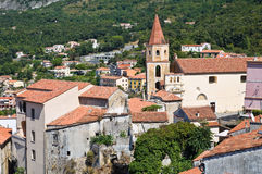 Panoramic view of Maratea. Basilicata. Italy. Royalty Free Stock Photos