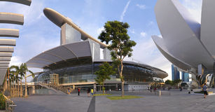 Panoramic view of Marina Bay Sands Royalty Free Stock Images