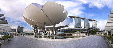 Panoramic view of Marina Bay Sands Royalty Free Stock Photo
