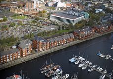 Panoramic view of Maritime Quarter in Swansea,Wales, UK Stock Photography