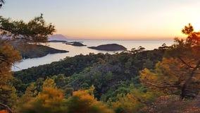 Marmaris Seven Islands. Panoramic view of Marmaris Seven Islands stock image