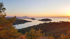 Marmaris Seven Islands. Panoramic view of Marmaris Seven Islands stock images