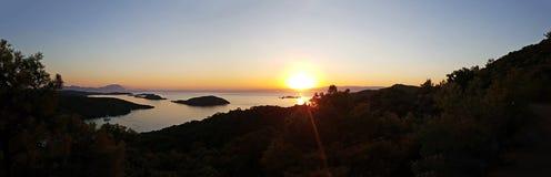 Marmaris Seven Islands. Panoramic view of Marmaris Seven Islands stock photo