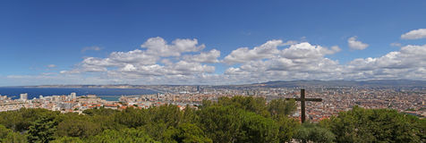 Panoramic view on Marseille Royalty Free Stock Image