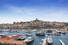 Panoramic view on Marseille, France Royalty Free Stock Photo