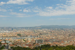 Panoramic view of Marseille and old port Stock Photos