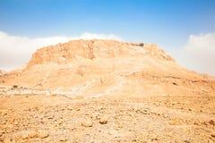 Panoramic view of Masada fortress Royalty Free Stock Photo
