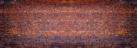 Panoramic view of masonry, brick wall as background Stock Photos