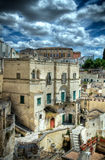 Panoramic view of Matera. Basilicata. Stock Photos