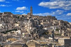 Panoramic view of Matera. Basilicata. Royalty Free Stock Image
