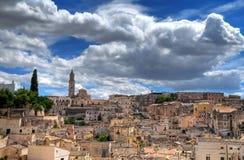 Panoramic view of Matera. Basilicata. Stock Photography