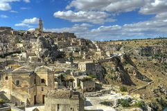Panoramic view of Matera. Basilicata. Stock Images