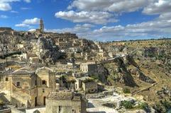 Panoramic view of Matera. Basilicata. Stock Images