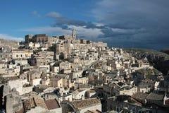 Panoramic view of Matera. Basilicata. Stock Photos