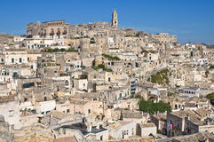 Panoramic view of Matera. Basilicata. Italy. Stock Photography