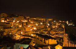 Panoramic view of Matera. Basilicata. Italy. Stock Image