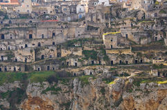 Panoramic view of Matera. Basilicata. Italy. Stock Photos
