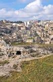 Panoramic view of Matera. Basilicata. Italy. Royalty Free Stock Image