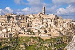 Panoramic view of Matera. Basilicata. Italy. Royalty Free Stock Photos