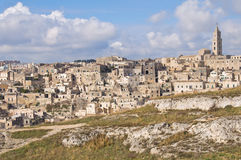 Panoramic view of Matera. Basilicata. Italy. Royalty Free Stock Photography
