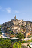 Panoramic view of Matera. Basilicata. Italy. Stock Images
