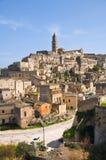 Panoramic view of Matera. Basilicata. Italy. Stock Photography