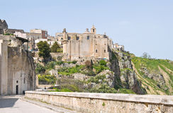 Panoramic view of Matera. Basilicata. Italy. Royalty Free Stock Photography