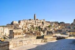 Panoramic view of Matera. Basilicata. Italy. Royalty Free Stock Images