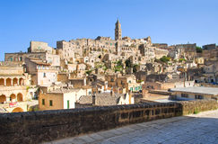 Panoramic view of Matera. Basilicata. Italy. Royalty Free Stock Photo