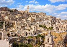 Panoramic view of Matera Stock Photo