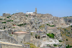 A panoramic view of Matera Royalty Free Stock Photos