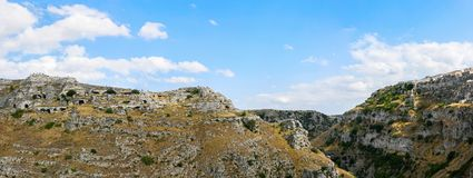 Panoramic view of Matera - Puglia Royalty Free Stock Photography