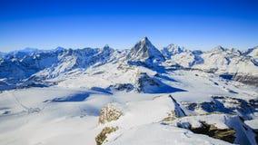 Panoramic view of Matterhorn. Stock Images