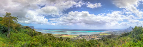 Panoramic view on Mauritius Royalty Free Stock Photos