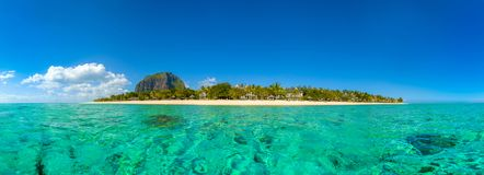 Panoramic view of Mauritius island landscape Royalty Free Stock Photos